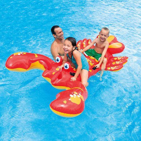 Blow Up Pool Toys (Intex Lobster Ride On Inflatable for Swimming)
