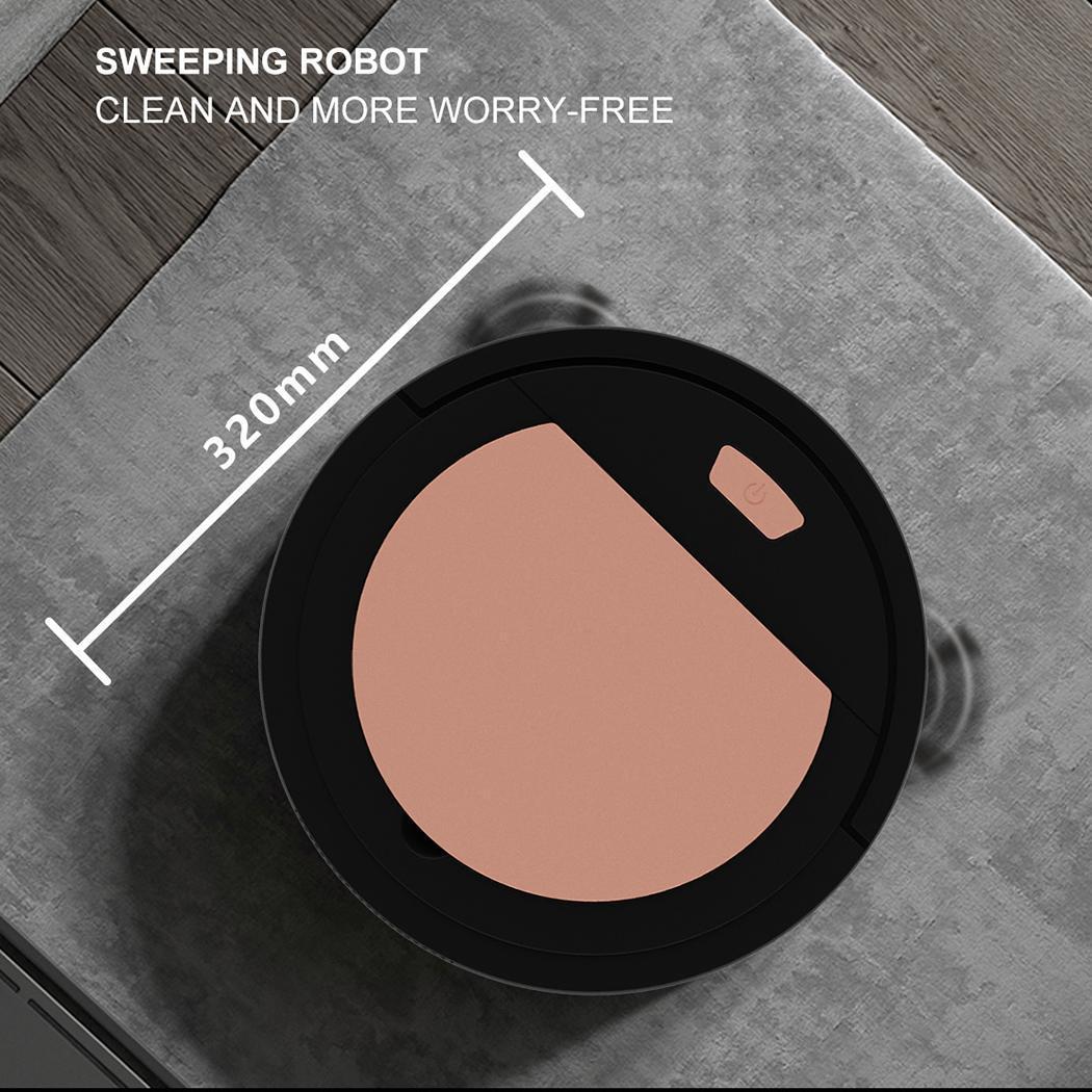 Cabello Joyhoop Robot Aspirador Carga USB Autom/ático Sweeper Aspirador Inteligente S/úper Silencioso para Pisos de Madera Azulejos Negro Alfombra