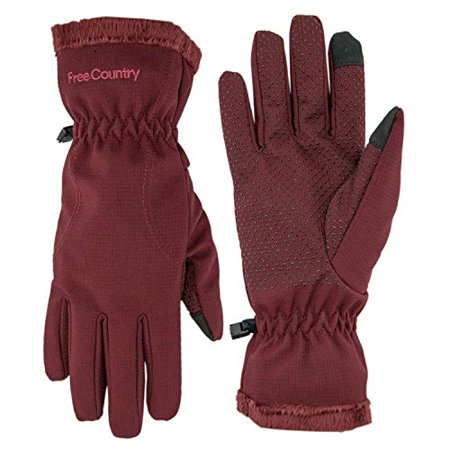 Country Cranberry (Free Country Women's Outdoor Softshell Gloves Cranberry)