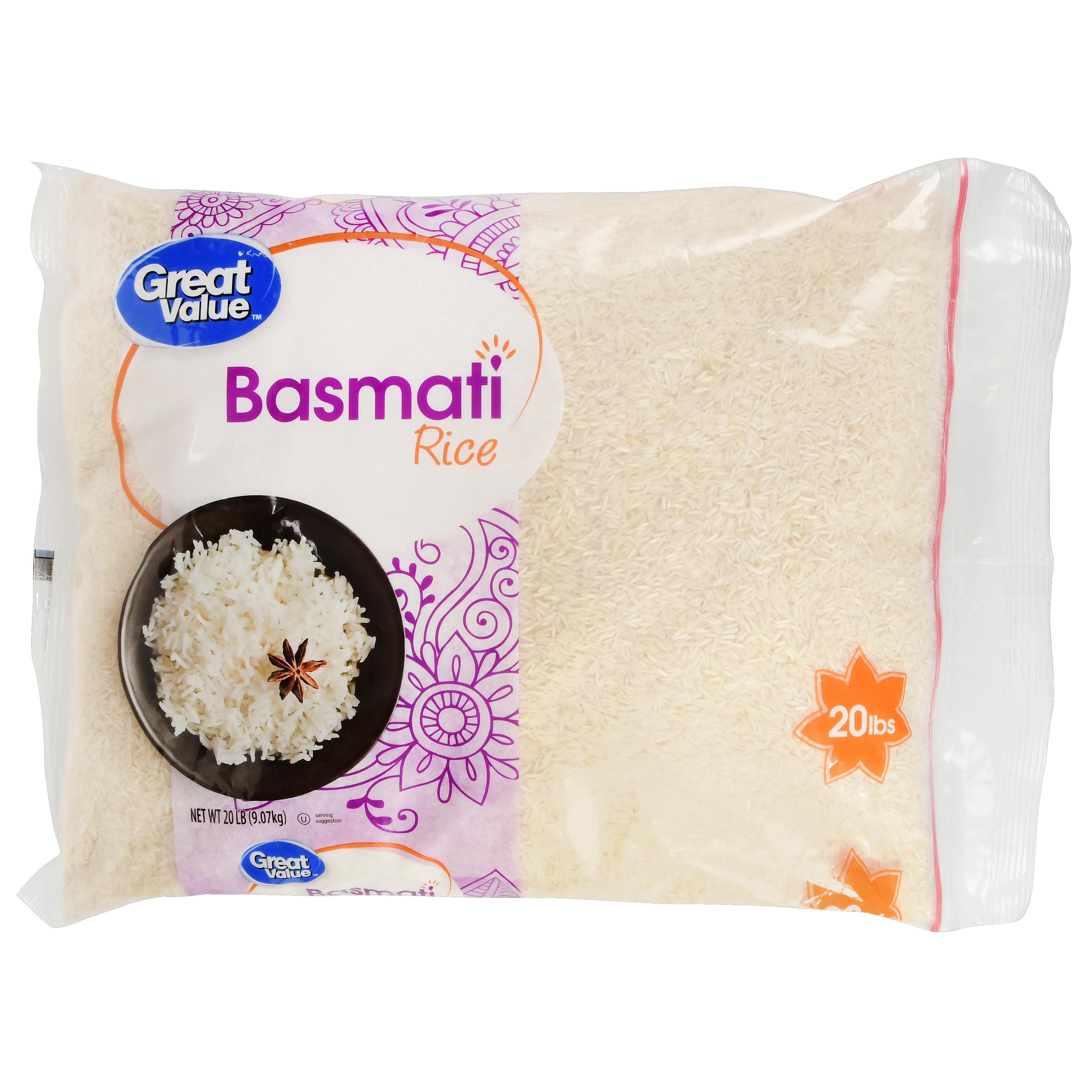 Great Value Basmati Rice, 20 Lb - $0.98/lb