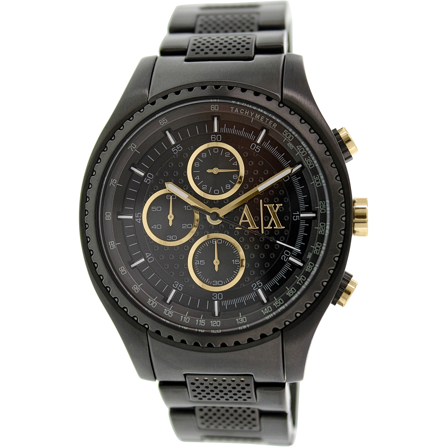 Armani Exchange Men's AX1604 Black Stainless-Steel Quartz...