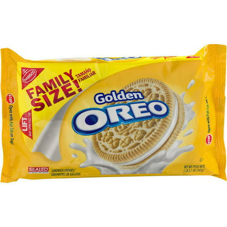 (2 Pack) Nabisco Oreo Golden Sandwich Cookies, 19.1 oz