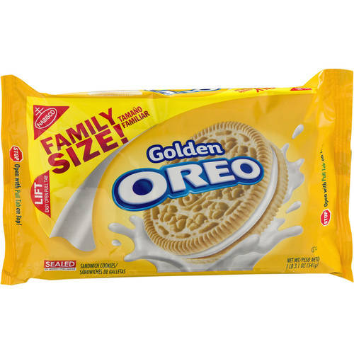(2 Pack) Nabisco Oreo Golden Sandwich Cookies, 19.1 oz