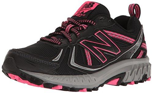 New Balance Women's WT410v5 Cushioning Trail Running Shoe, Black, 6.5 B US