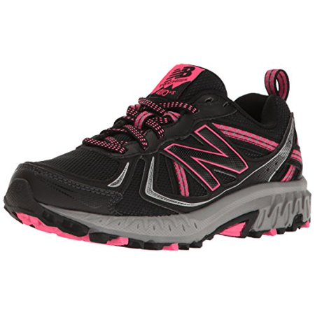 New Balance Women's WT410v5 Cushioning Trail Running Shoe, Black, 5.5 B