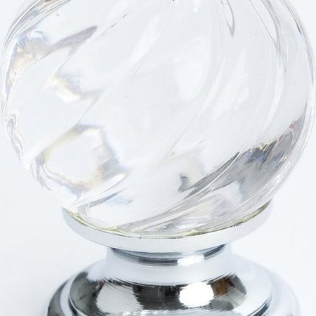 Berenson Europa 1-3/16 Inch Diameter Clear Crystal Swirl/Chrome Cabinet Knob 7032-926-C