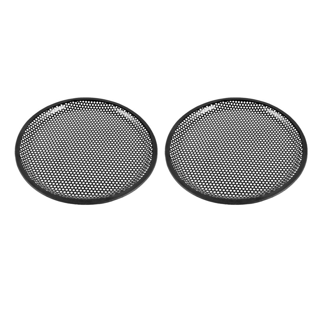 "Unique Bargains 10"" Dia Metal Mesh Round Car Woofer Cover Speaker Grill Black 2 Pcs"