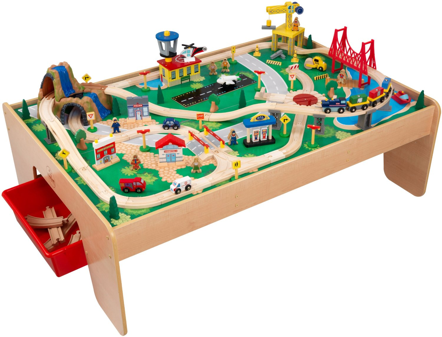 sc 1 st  Walmart & KidKraft Waterfall Mountain Train Set and Table - Walmart.com