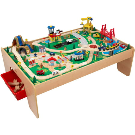 KidKraft Waterfall Mountain Train Set and Table - Walmart.com