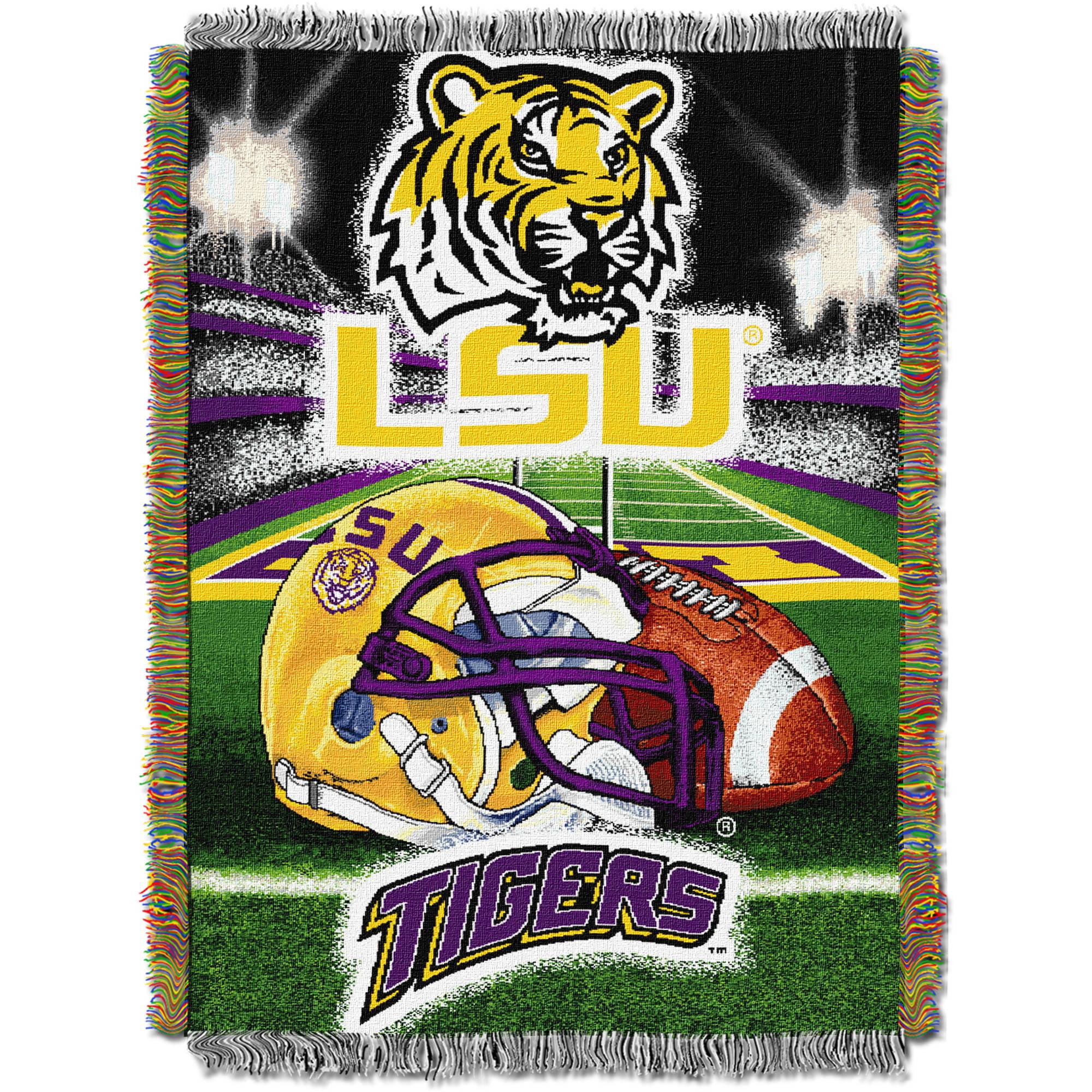 "NCAA 48"" x 60"" Tapestry Throw Home Field Advantage Series- LSU"