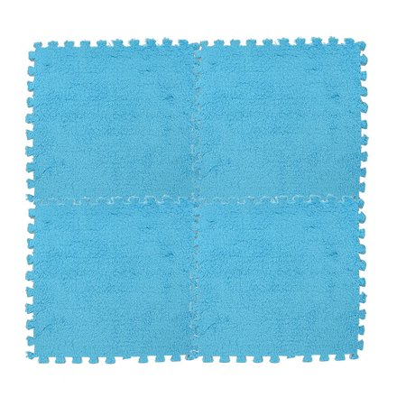Tuscom 30*30cm Kids Carpet Foam Puzzle Mat EVA Shaggy Velvet Baby Eco Floor 6 colors ()
