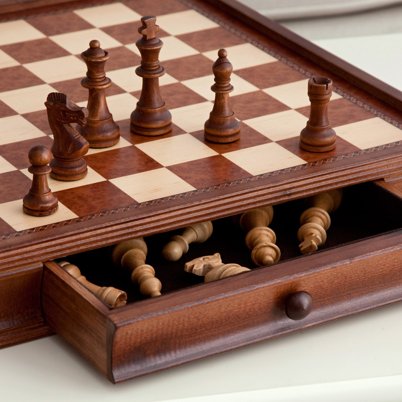 Camphor 19 in. Chess and Checkers Set with Storage by CHH