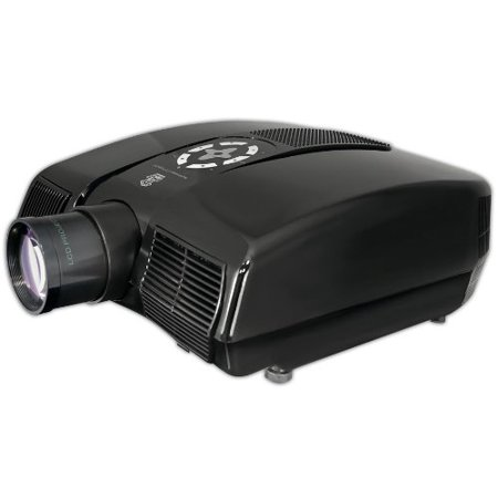 Widescreen Projector with Up To 100-Inch Viewing Screen, Built-In Speakers & Supports