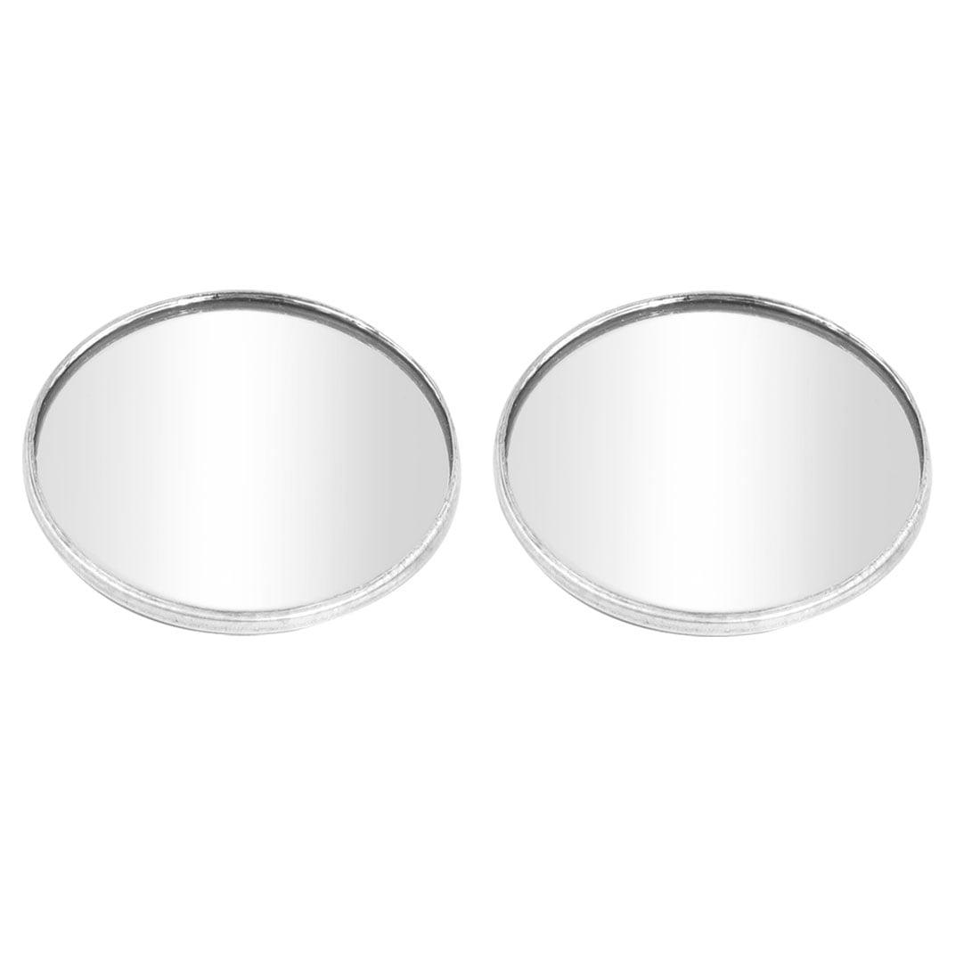 "2pcs 1.9"" Dia Round Wide Angle Convex Auto Car Mirror Blind Spot Silver Tone - image 1 of 1"