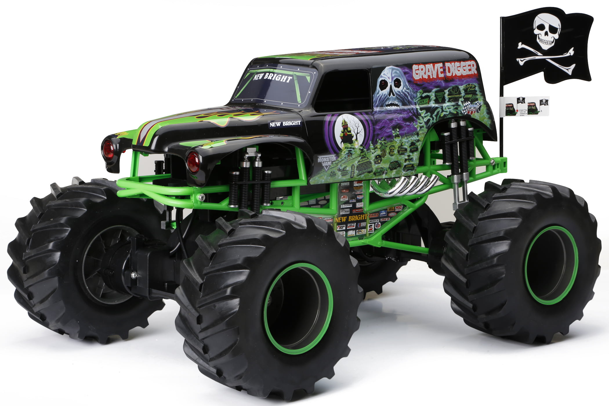 New Bright RC Monster Jam 1:8 Scale 4×4 Radio Control Truck Grave Digger by New Bright