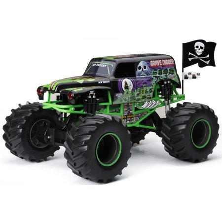 New Bright Rc Monster Jam  1 8 Scale 4 4 Radio Control Truck   Grave Digger