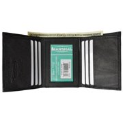Men's premium genuine leather credit card ID trifold wallet P1155