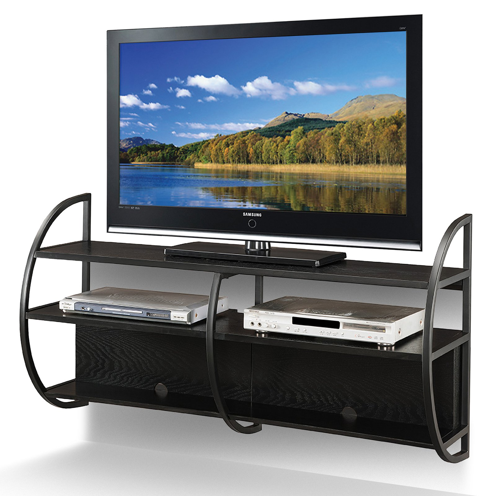 """Leick Home Floating TV Stand for TV's up to 50"""", Black"""