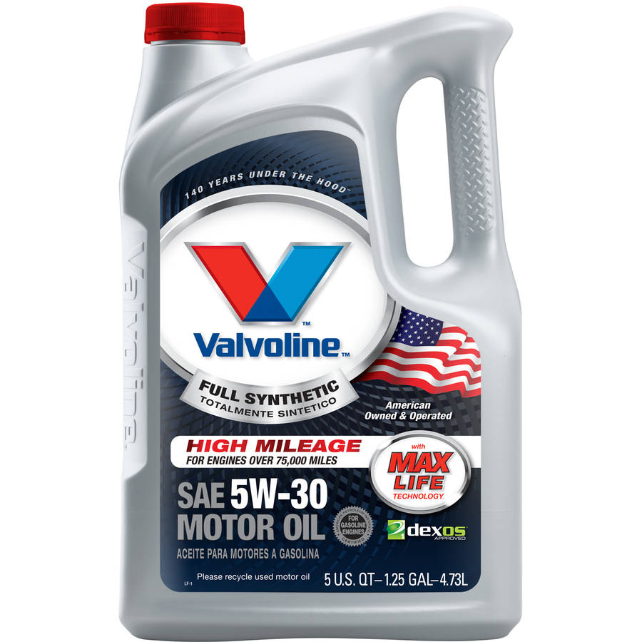 Valvoline Full Synthetic with MaxLife Technology 5W-30 Motor Oil, 5 Quarts
