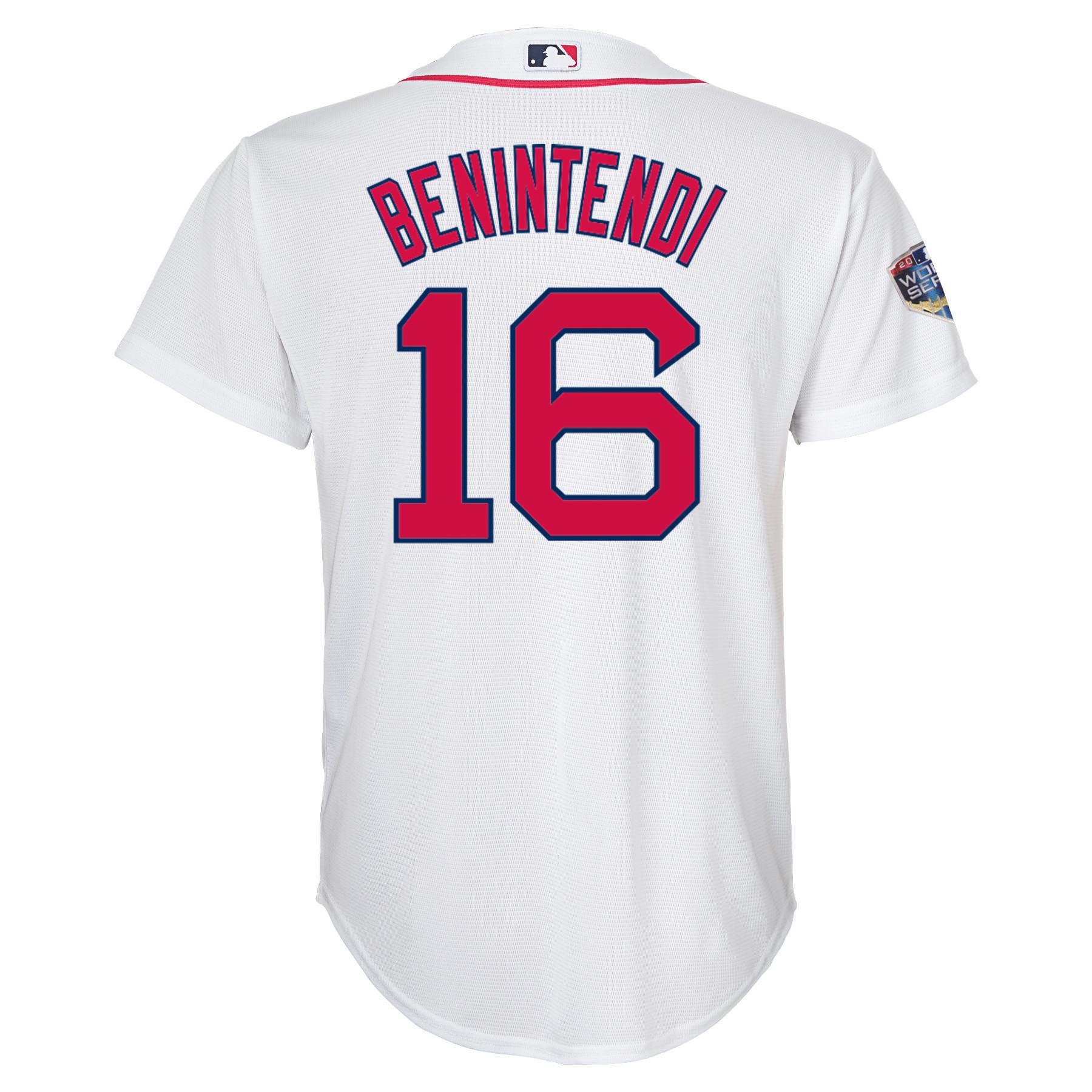 61b503a56 Andrew Benintendi Boston Red Sox Majestic Youth 2018 World Series ...