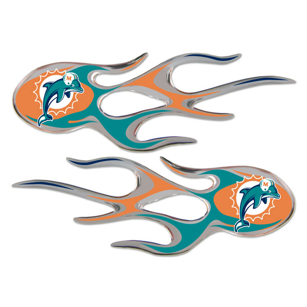 Miami Dolphins Micro Flames Graphics