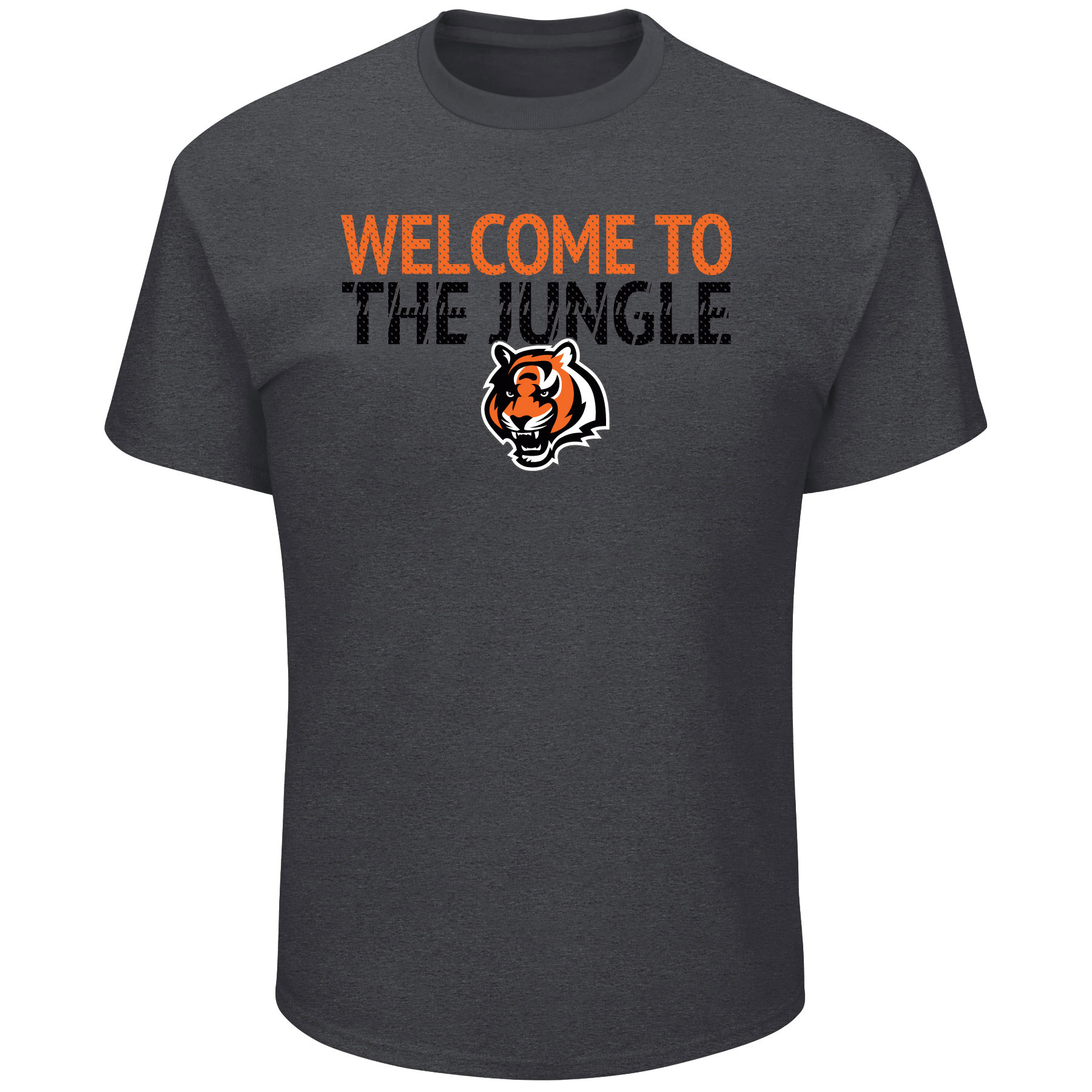 Cincinnati Bengals Majestic Safety Blitz T-Shirt - Heathered Charcoal