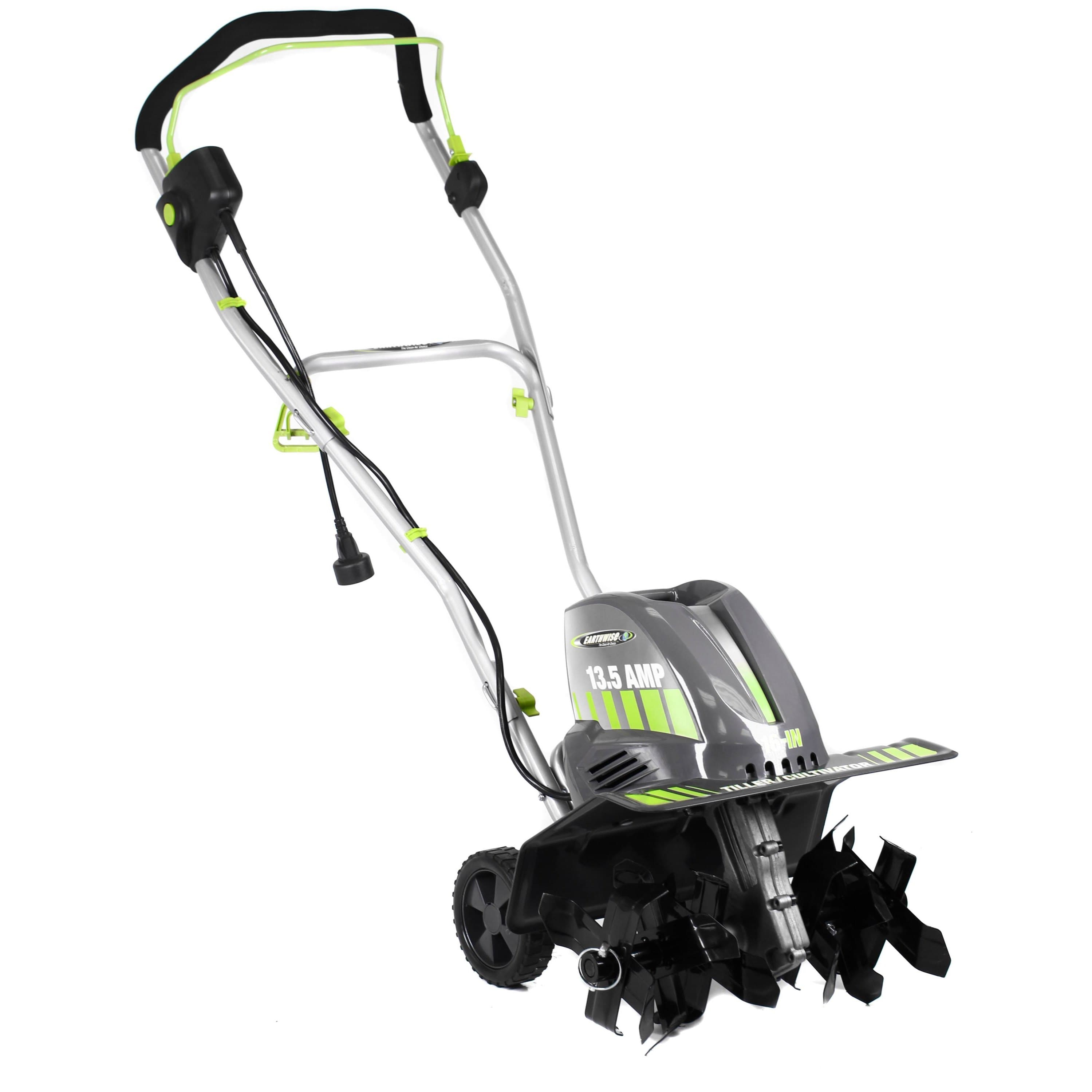 "Earthwise TC70016 16"" 13.5 Amp Corded Electric Tiller/Cultivator with 6 Adjustable Tines"