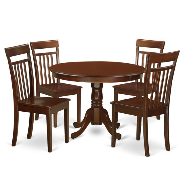 Small Round Dining Table Set: One Round Small Table & Four Chairs With