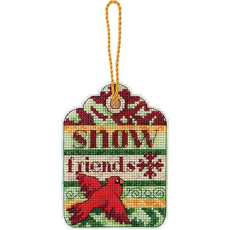 Dimensions Susan Winget Snow Friends Ornament Counted Cross Stitch Kit-3-1/4