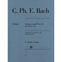 G. Henle Verlag Flute Sonata A minor Wq 132 Henle Music Softcover by Carl Philipp Emanuel Bach Edited by Marion Beyer