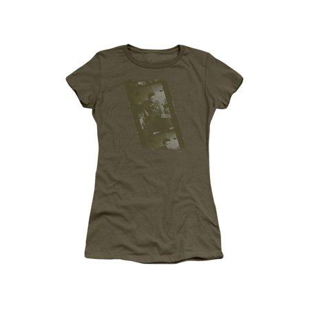 Elvis Presley The King Rock Army Juniors Sheer T-Shirt Tee