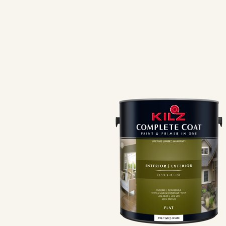 KILZ COMPLETE COAT Interior/Exterior Paint & Primer in One #LE200-01 Tea Set (Best Paint For Nursery Walls)