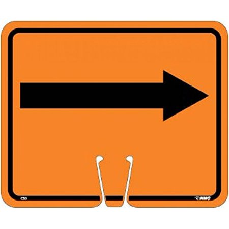CS5 National Marker Safety Cone Right Arrow Sign