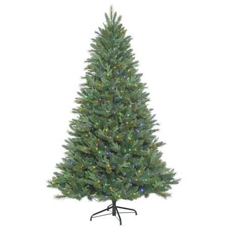Dixon Mix Pine Christmas Tree with Multi-Colored LED Lights, 6.5 ft. x 48 in. - image 1 de 1
