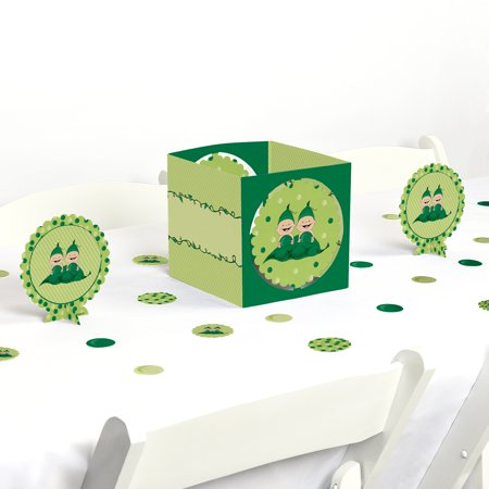 Twins two peas in a pod baby shower or birthday party for Baby shower decoration twins