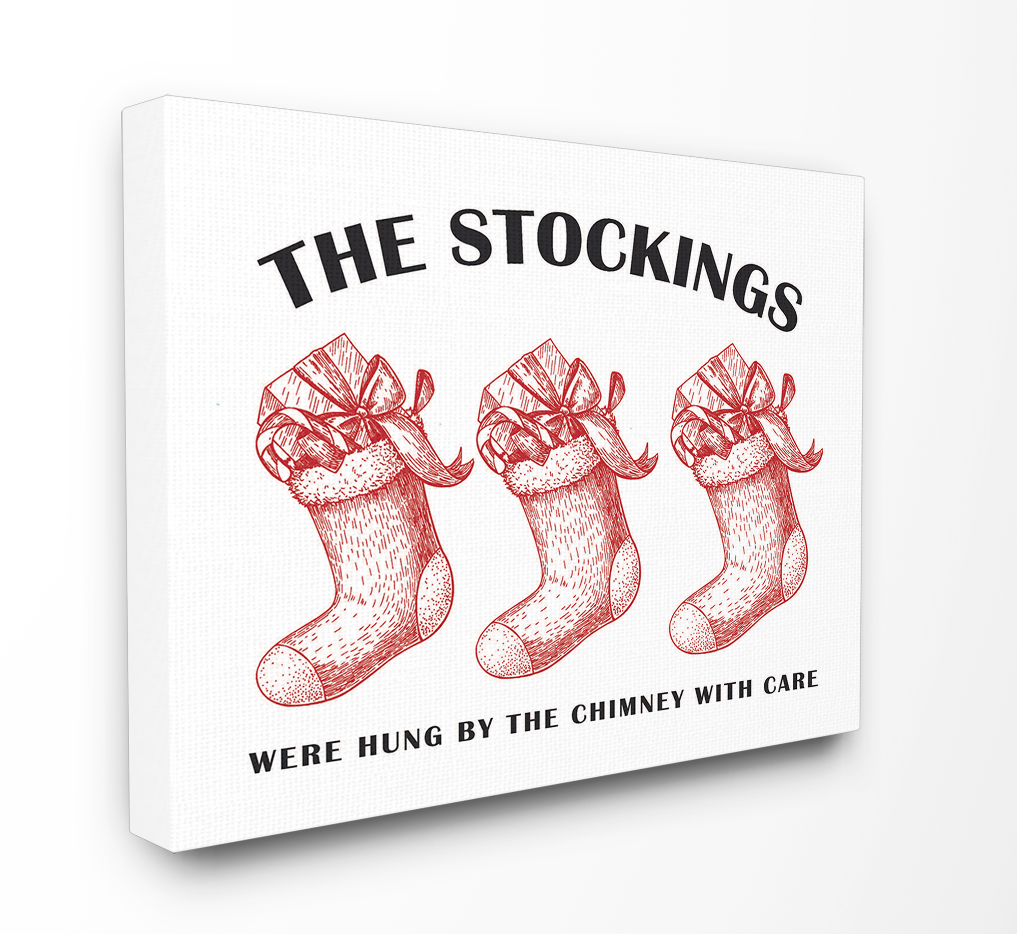 The Stupell Home Decor Collection Christmas The Stockings Vintage Icons Oversized Stretched Canvas Wall Art