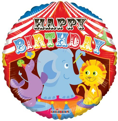 "- 18"" Birthday Circus Mylar Foil Balloons, By Single Source Party Supplies"