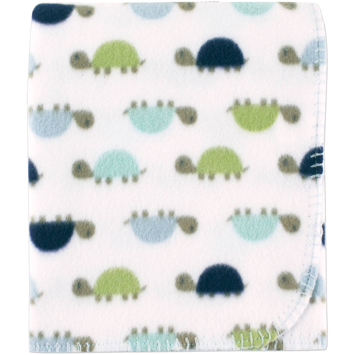 Luvable Friends Printed Fleece Blanket, Turtles