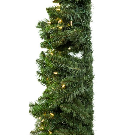 Home Heritage 7' Artificial PVC Corner Christmas Tree LED White Lights w/ Stand - image 3 of 9