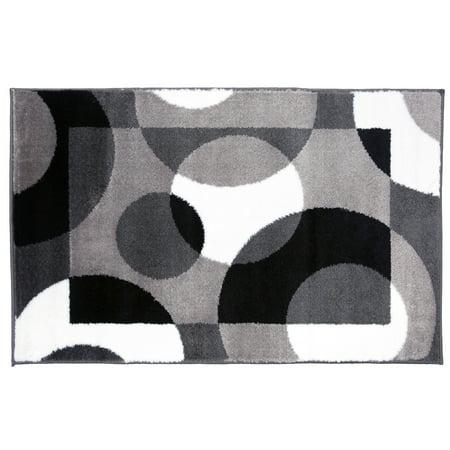 Modern Circles Gray 2' x 3' Indoor Area Rug](Grey And Yellow Decor)