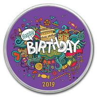 1 oz Silver Colorized Round - APMEX (2019 Birthday Fiesta)