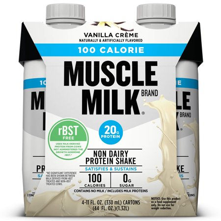 Muscle Milk 100 Calorie Protein Nutrition Shake - Vanilla Crème - 11oz/4ct