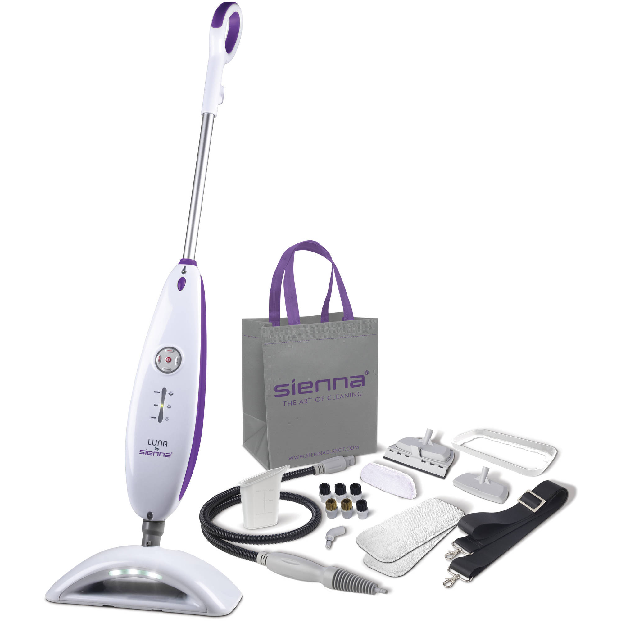 Sienna Luna Plus Steam Cleaning System, SSM-3016 Multi Use Portable Steam Cleaner, Micro Pulse Steam Mop