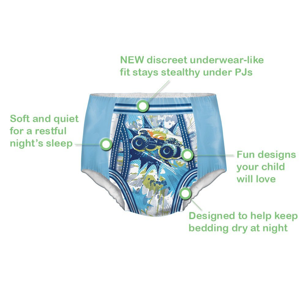GOODNITES Boys Nighttime Pants Small/Medium, 38 to 65 lbs, Pack of 33