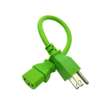 Kentek 1 FT Green AC Power Cable Cord For YAMAHA MOTIF XS6 XS7 XS8 XF6 XF7 (Yamaha Motif Xf8 Best Price)