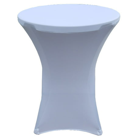 Banquet Tables Pro 32 x 43 White Stretch Spandex Linen for Folding Bar Height (Banquet Tables And Chairs)