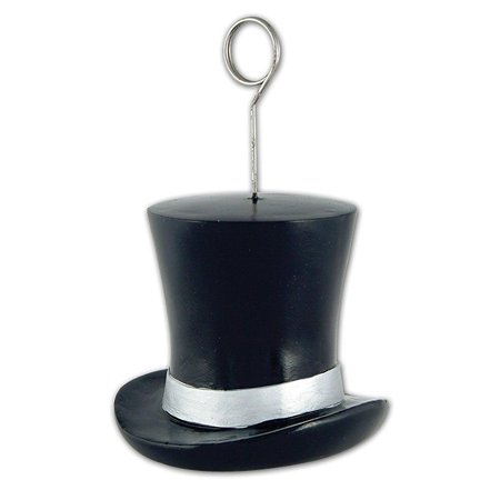 Balloons Photo (top hat photo/balloon holder (black & silver) party accessory (1)