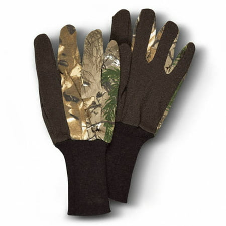 Camo Unlined Jersey Gloves, Hunters Specialties, Realtree Xtra Camo, Youth