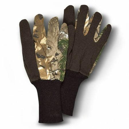 Camo Unlined Jersey Gloves, Hunters Specialties, Realtree Xtra Camo, Youth thumbnail