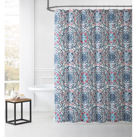 Leila Medallion Print Shower Curtain Easy Care Dobby Multi Inspired Surroundings By 1888 Mills